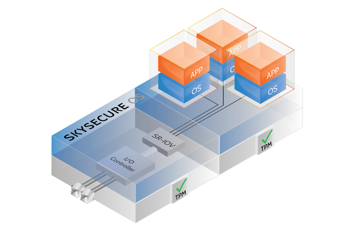 Skyport's Diagram of the SkySecure System