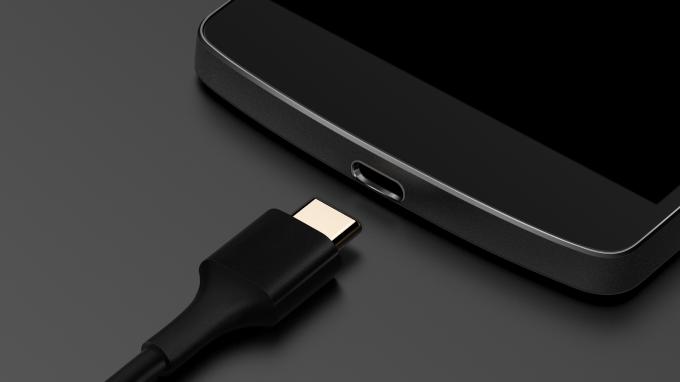 USB Type C macro image