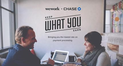 WeWork Partners With Chase To Offer Discounted Commerce Services To