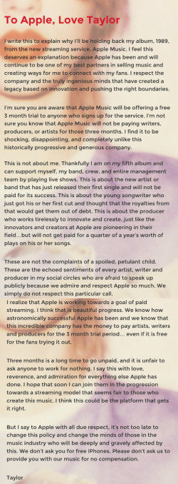 Apple Taylor Swift Blog