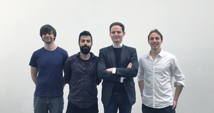 ByeBuy team: Florian Hofer (Director of Technology), Behrad Mirashar (Head of Brand and Digital Product Experience), Michael Cassau (CEO), and Simon Wiedemann (Lead Mathematician)