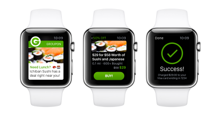 Groupon's New Apple Watch App Alerts You To Nearby Deals