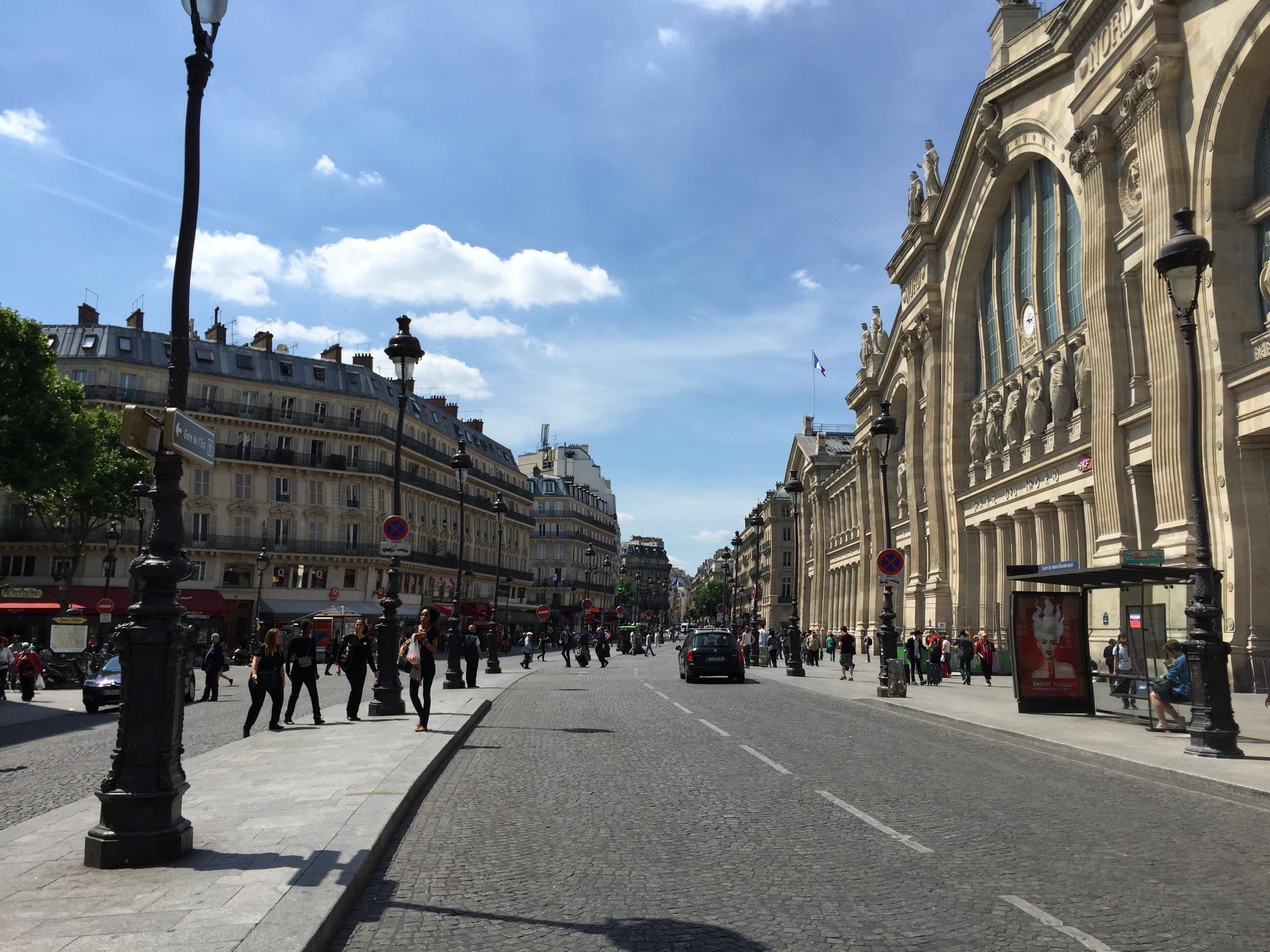 Bbw walking in the street (france)