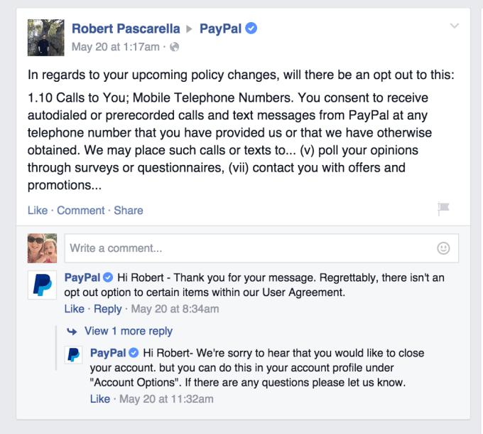 paypal-facebook-no-opt-out-robocalls