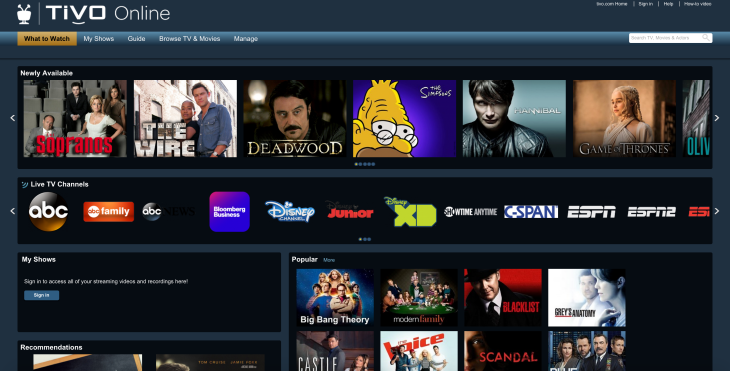 TiVo Now Lets Subscribers Stream Recordings And Live TV Via The Web