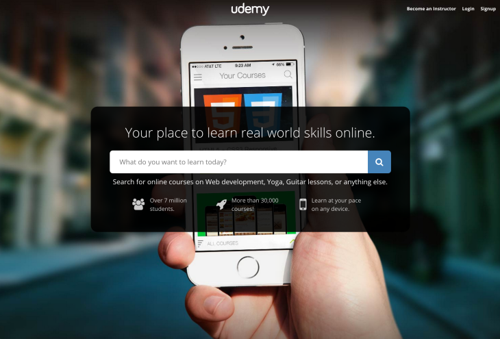 Edtech startup Udemy raises $60 million from Naspers for