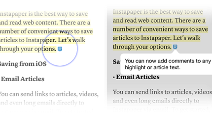 Instapaper Launches 'Notes' To Let Users Annotate Text | TechCrunch