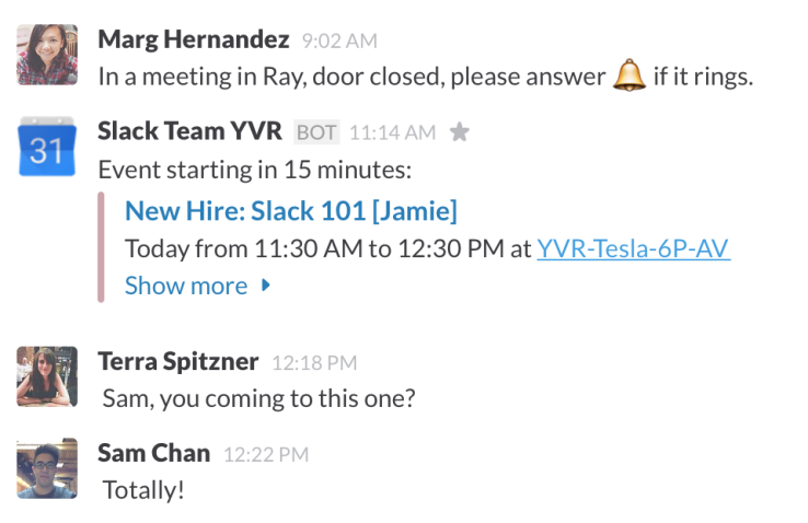 1 - in Slack screenshot