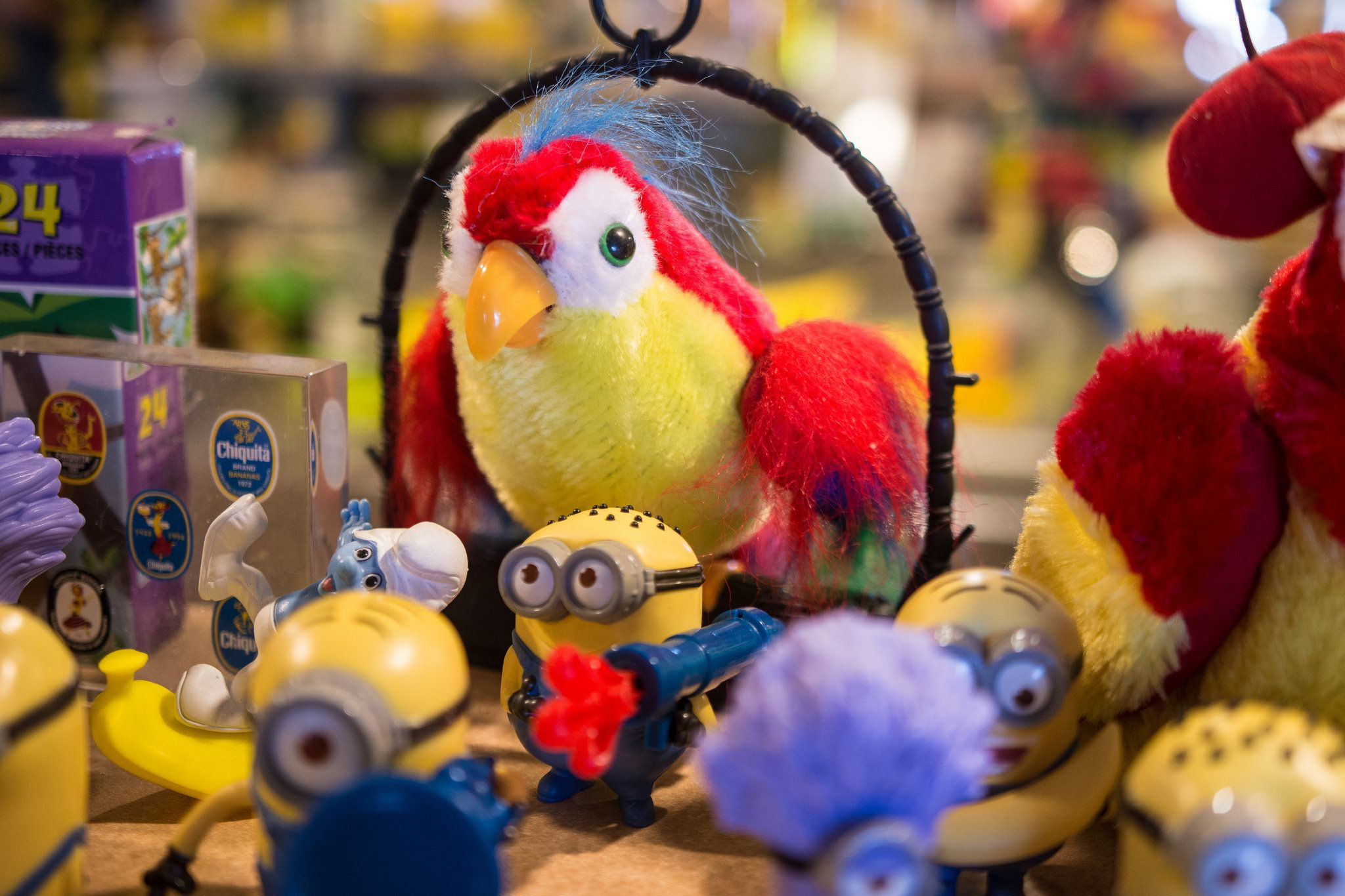 talking parrot with minions