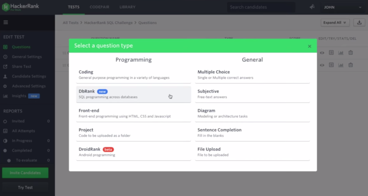 hackerrank gets 75m investment from recruit launches new screening tool for data scientists and database engineers - Database Engineers