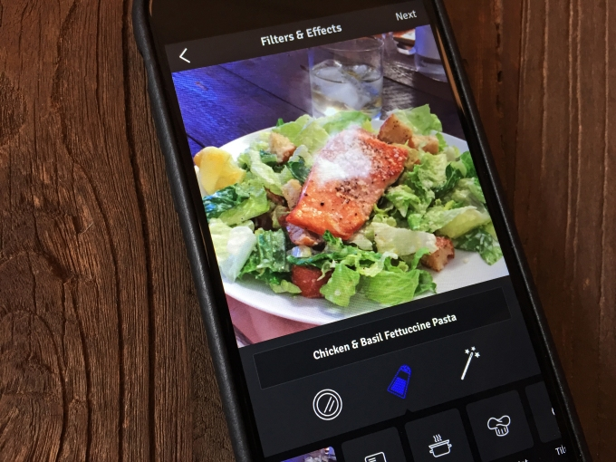 Blue Apron App Photo Filters Detail