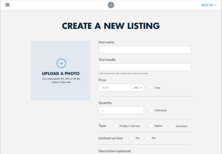 Create listing