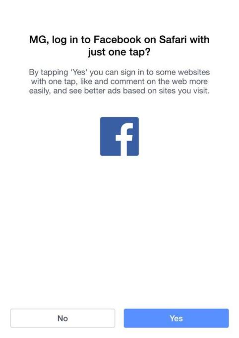 Facebook Safari Login