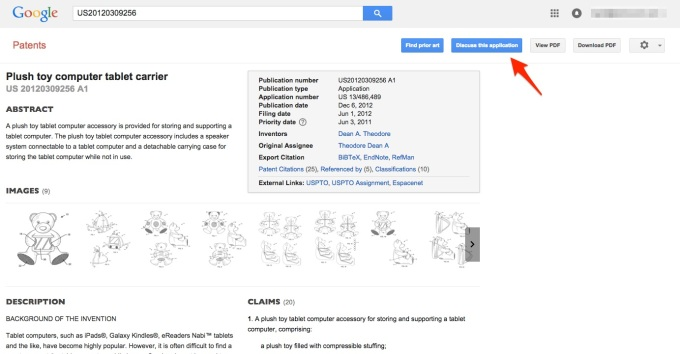 old google patent search