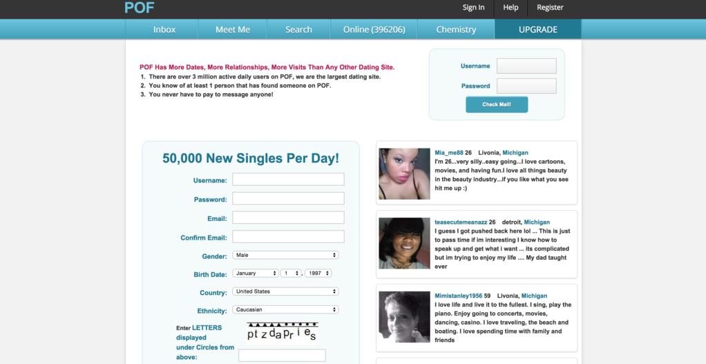 Free dating pof okcupid