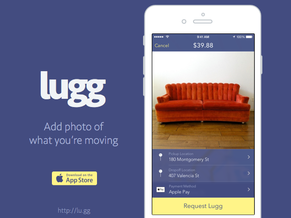 On-demand moving app Lugg hits Silicon Valley | TechCrunch