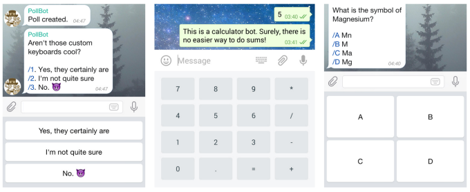 Some Telegram Custom Keyboards