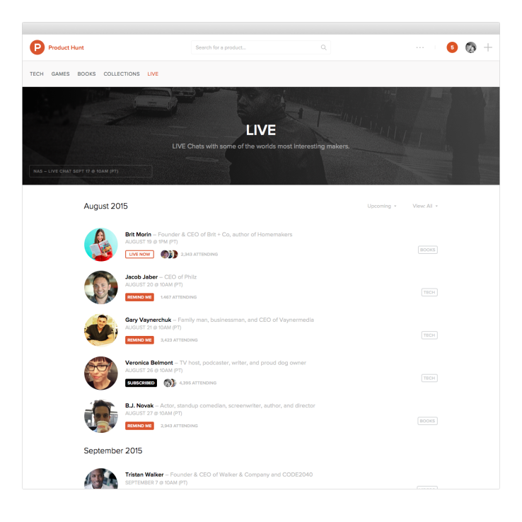 product-hunt-live-schedule