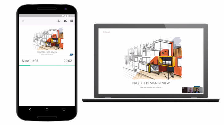 google slides now lets you present from your android device to