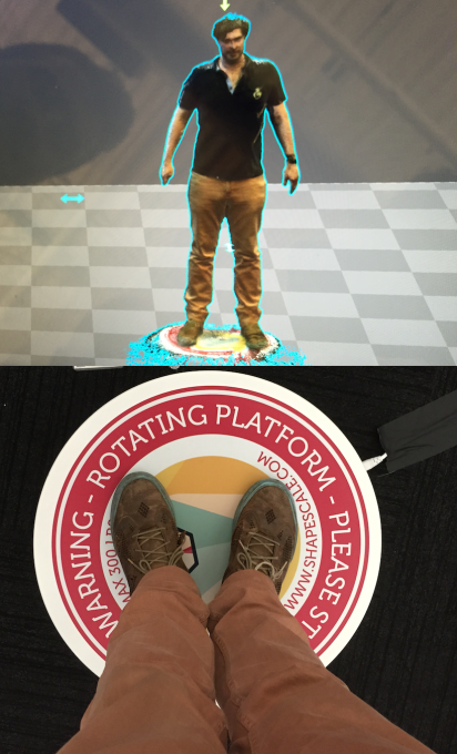 The rotating ShapeScale generates a VR avatar of you to track your fitness