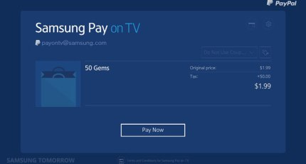 Samsung Pay Heads To Samsung's Smart TVs | TechCrunch