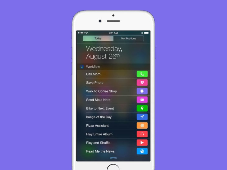 Workflow Lets You Put Shortcuts To Frequent Actions Right In