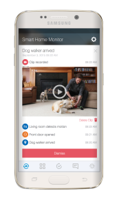 smartthings dog walker event