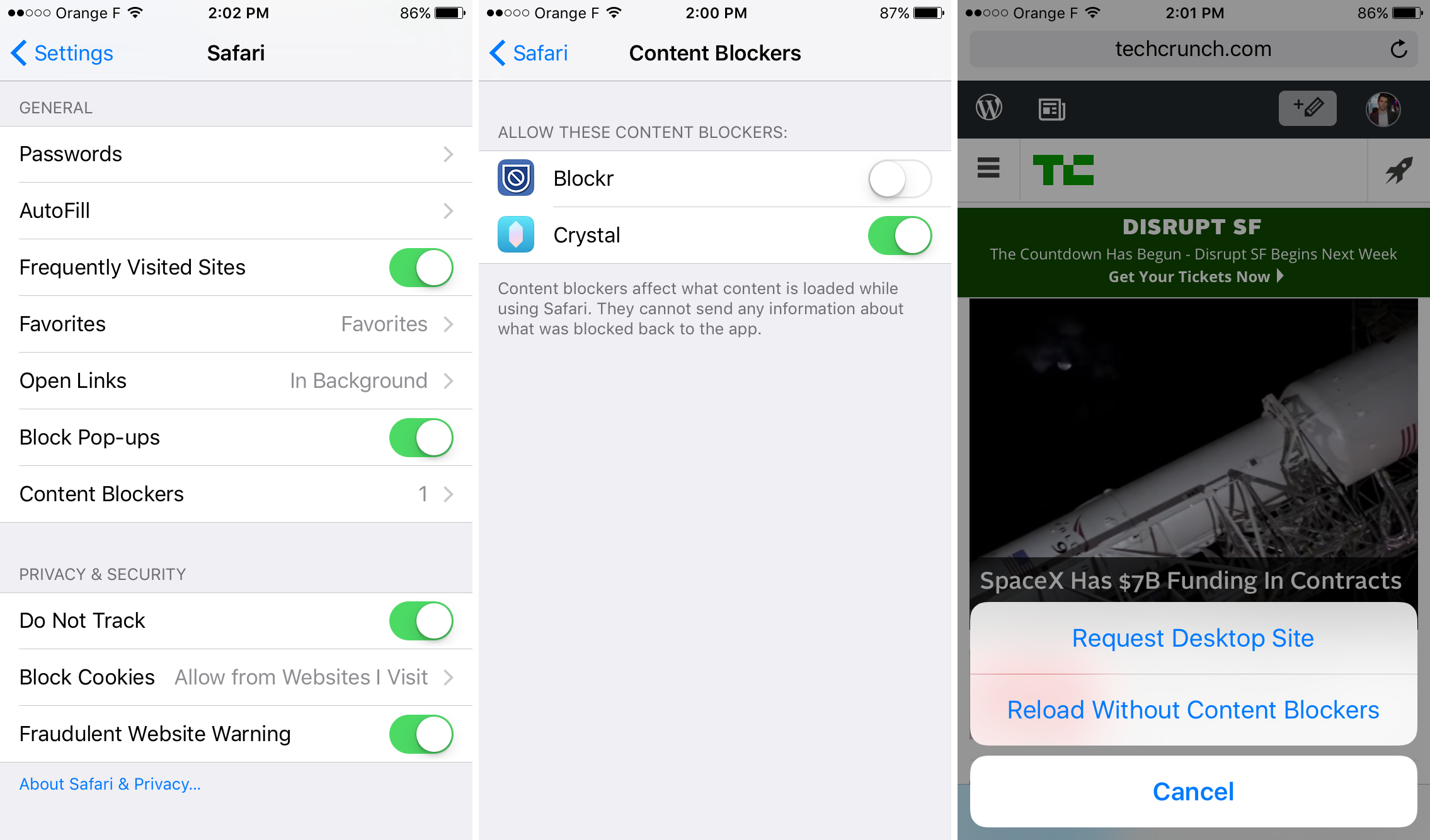 iOS 9 - Content Blockers