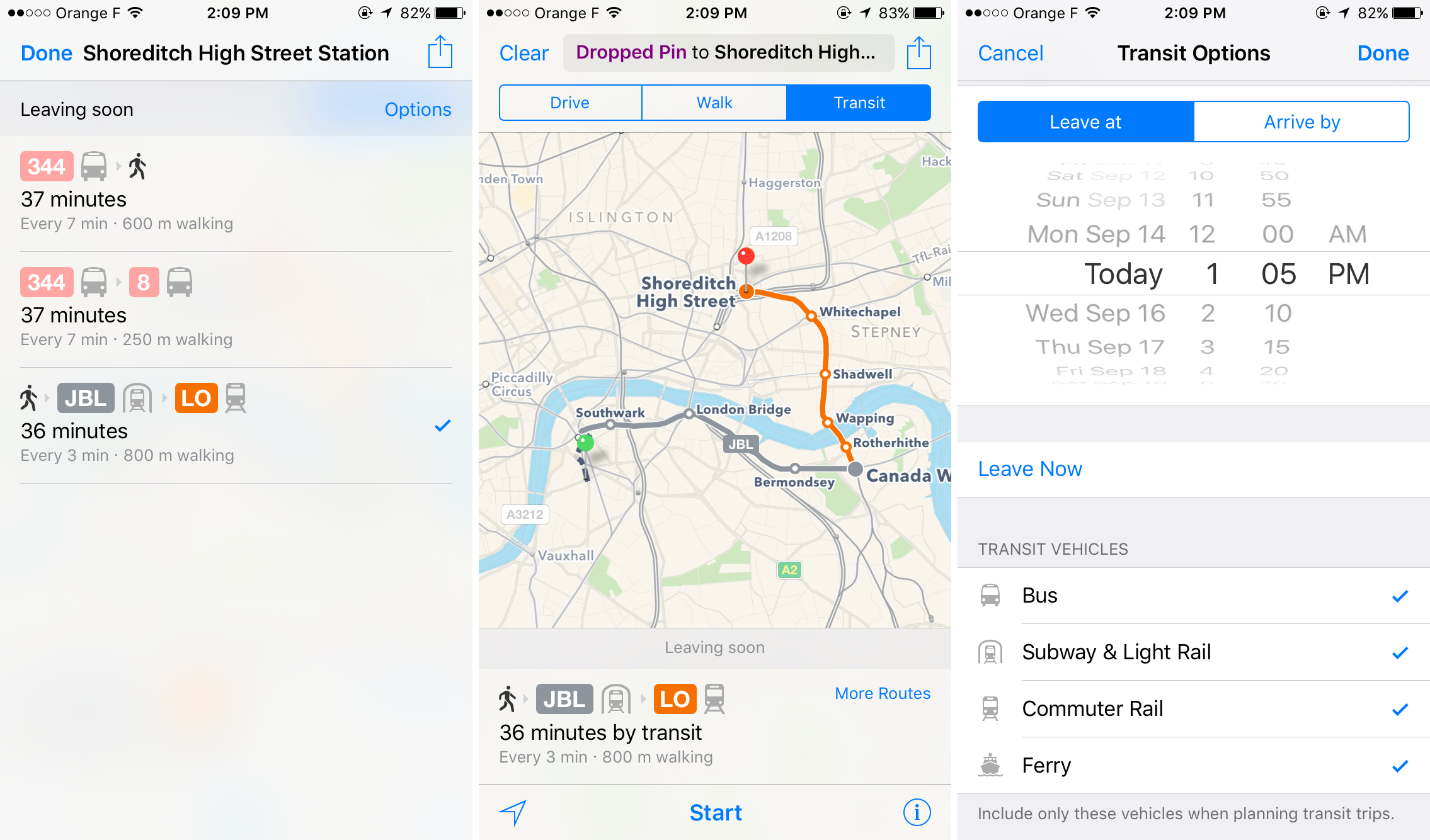 iOS 9 - Maps Transit