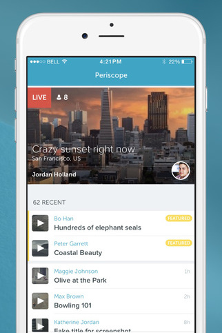 Periscope Broadcasts