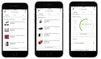 Ebay 4 0 Introduces A Unified Mobile Experience Plus Features From