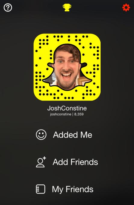 Snapchat Profile Page