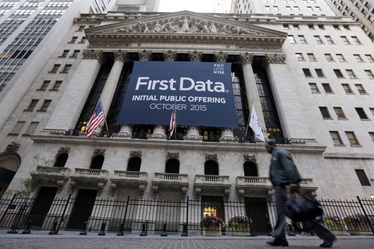 first data ipo Raising $2.56B In IPO, First Data Opens Only 2.4% Up At $16.39 ...