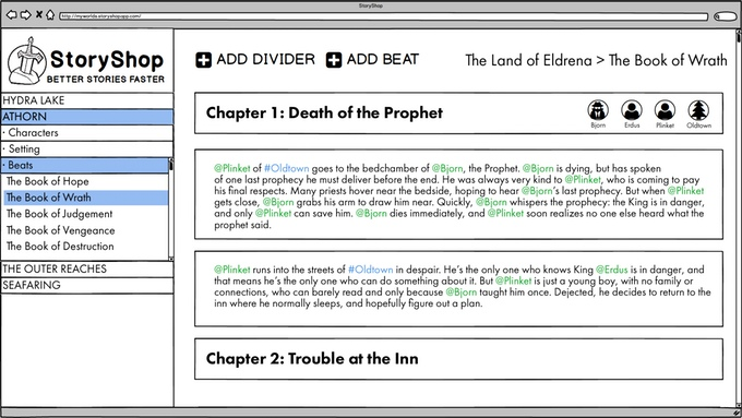 StoryShop Is A Story Planning App For Writers So Your Dragon Killers