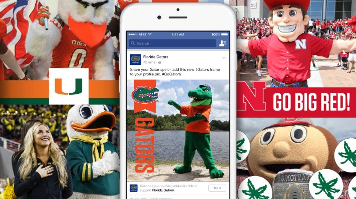 Facebook Now Lets You Frame Your Profile Pic To Show Support For Your Favorite College Football Team – TechCrunch