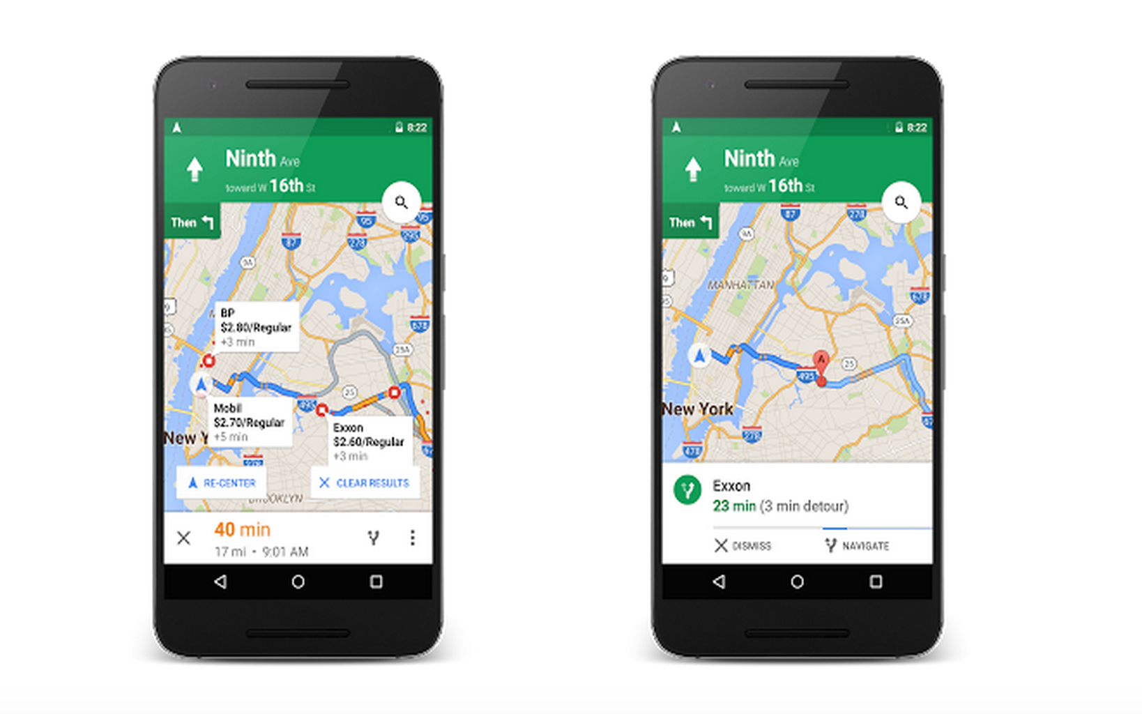 google maps now lets you add a stop along your route check gas prices techcrunch