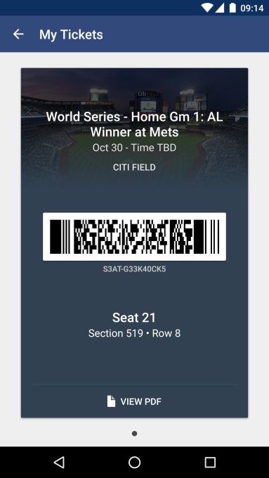SeatGeek ticket