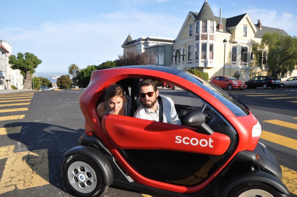 scoot unleashes new four wheeler quad cars on san francisco streets techcrunch. Black Bedroom Furniture Sets. Home Design Ideas