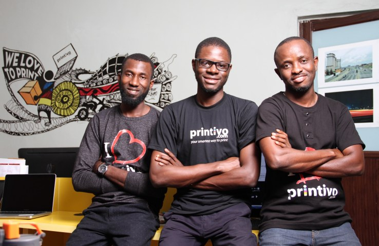 Printivo founders Ibukun Oloyede, Oluyomi Ojo, and Ayodeji Adeogun