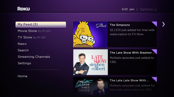 Roku Feed Updates w_Notifications