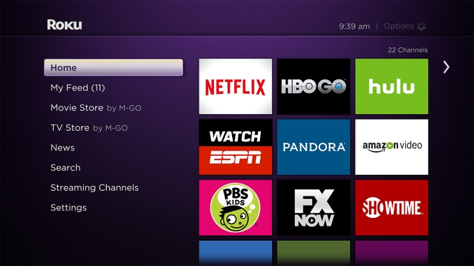 Roku Home Screen w_Notifications