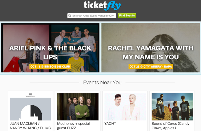 Ticketfly Website