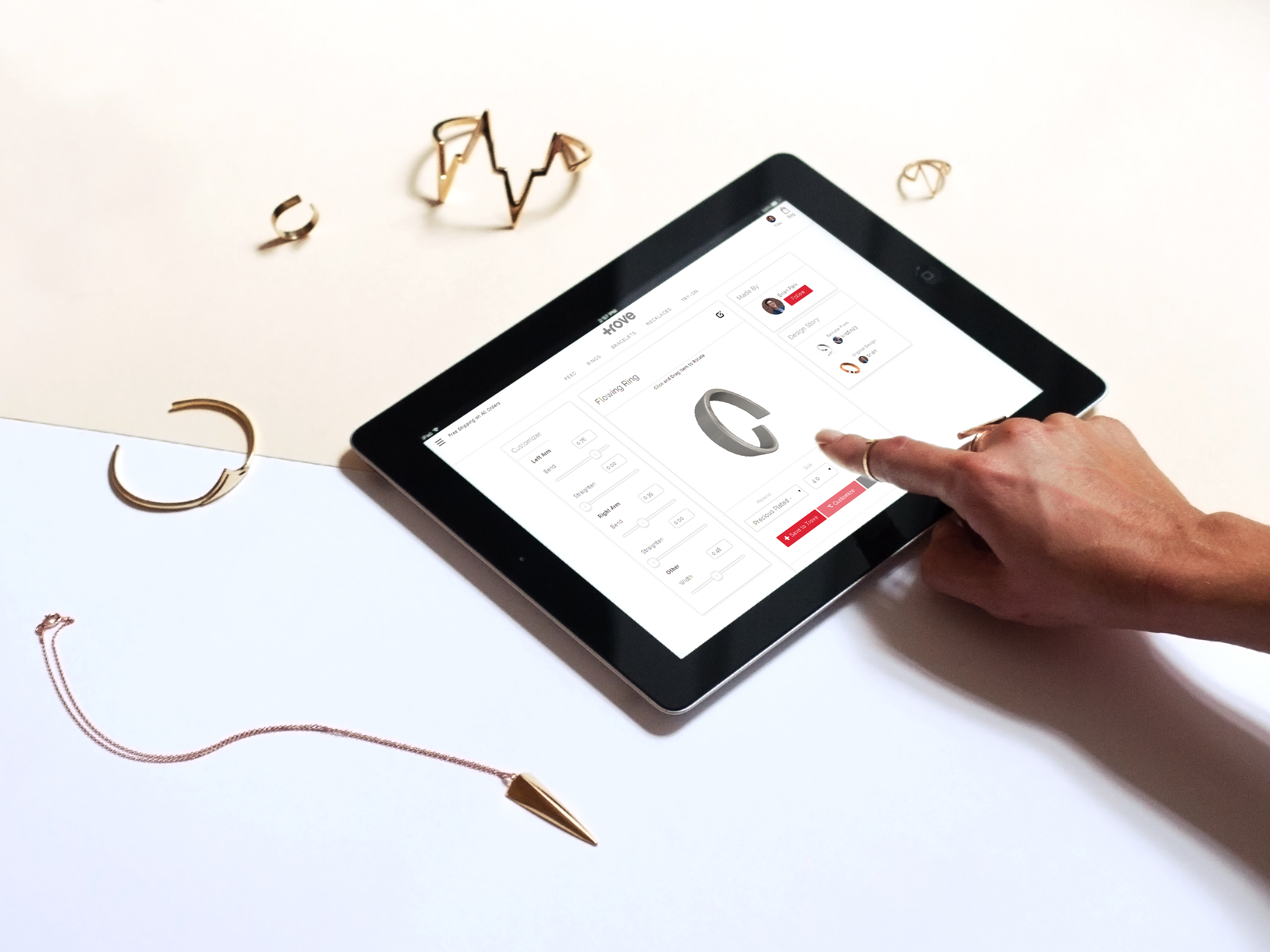 Trove Lets You Customize Gold And Silver Jewelry Using 3d Printing Techcrunch