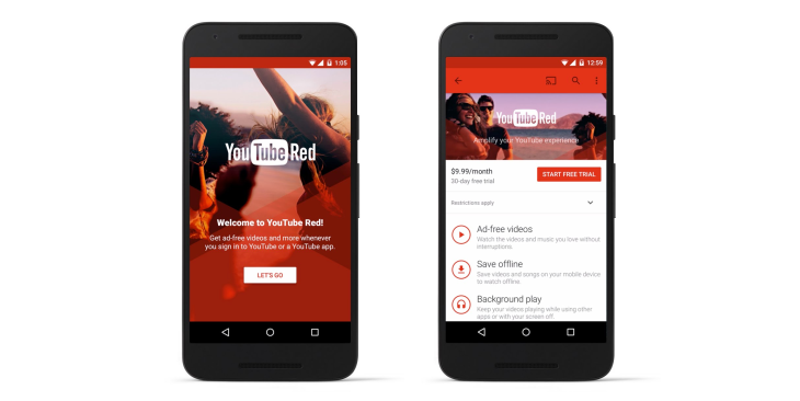 play music subscription youtube red