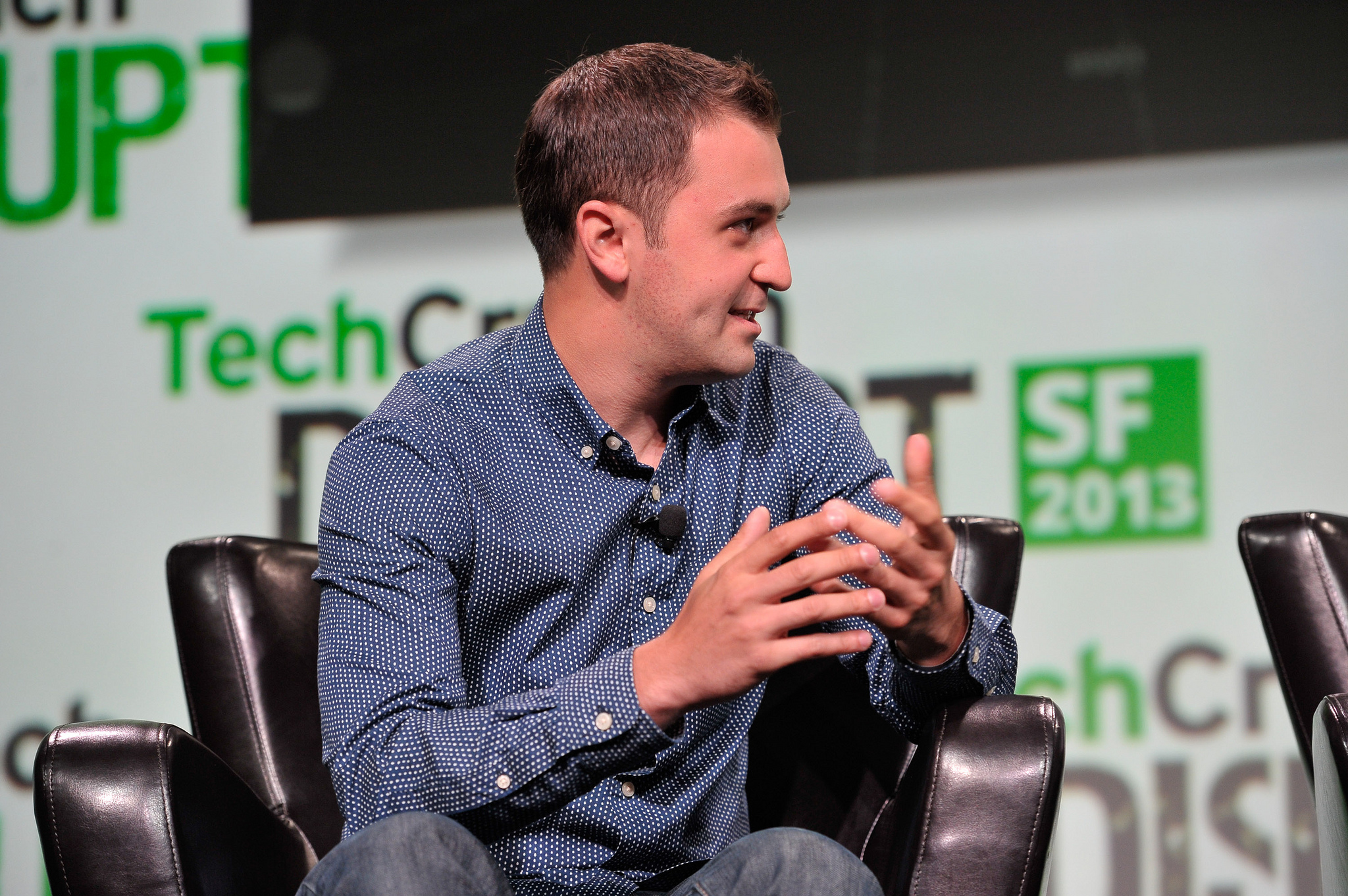 Lyft co-founder John Zimmer at TechCrunch Disrupt SF 2013.
