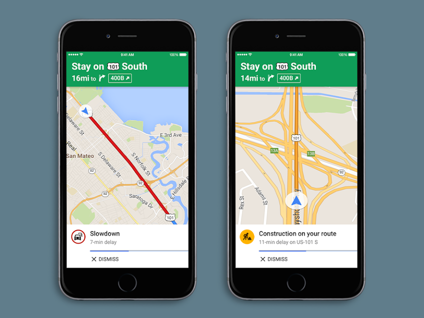Google Maps For iOS Finally Gets Spoken Traffic Alerts ... on google messenger ios, google drive ios, google app ios, bloons td 5 ios, bing ios, nokia maps ios, real racing 3 ios, apple maps ios,