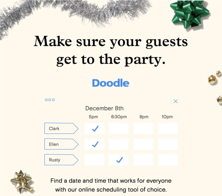 doodle partners with paperless post to bring easy scheduling to your