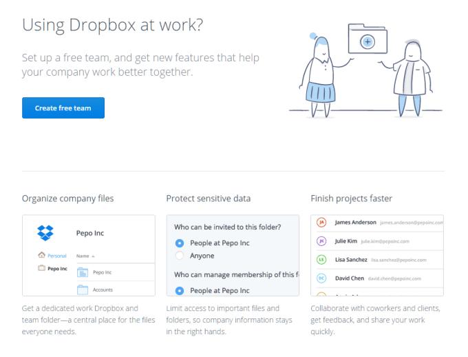 Dropbox empty state