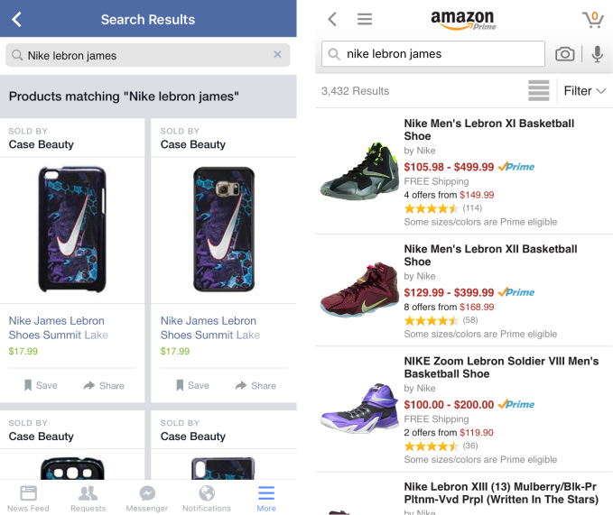 Facebook shopping Search Results