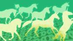 illustration of unicorns